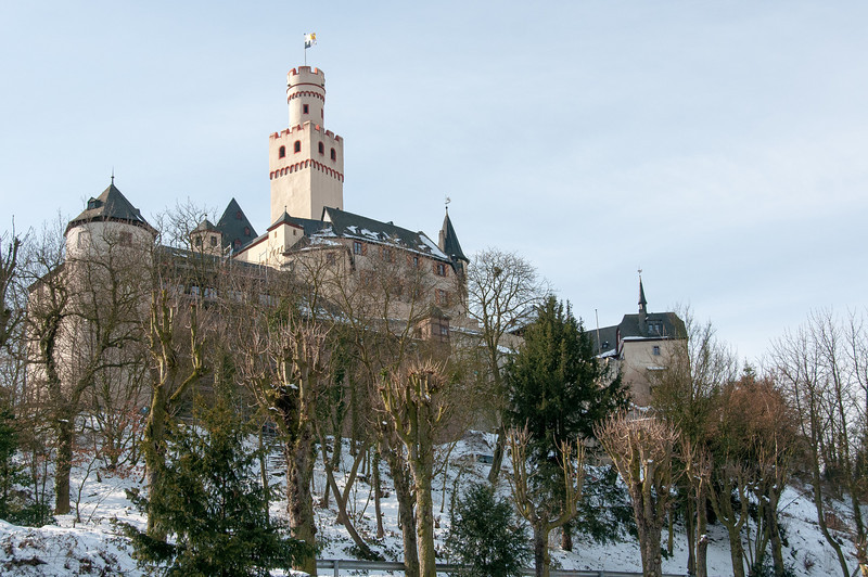 Castle on the Upper Middle Rhine River Valley