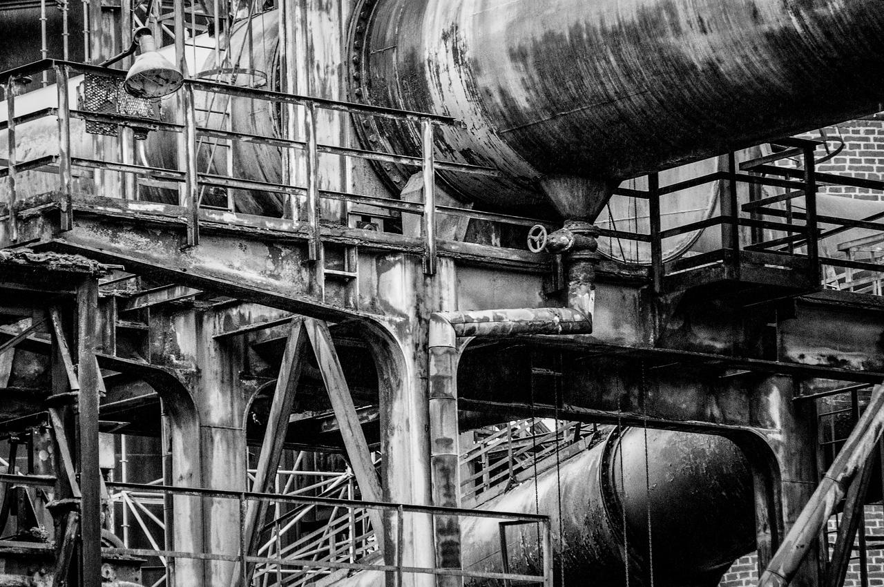 The Volklingen Ironworks in B&W - Volklingen, Germany
