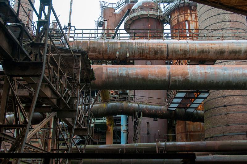 Inside the Volklingen Ironworks in Saarland, Germany