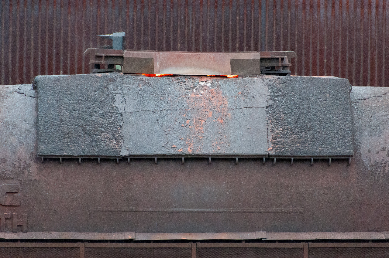 Heated iron at Volklingen Ironworks in Germany