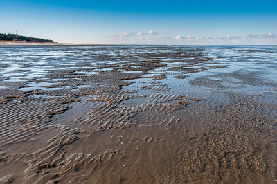 Wide shot of Wadden Sea in Germany