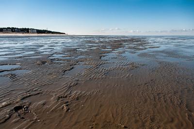 Low tide at Wadden Sea in Germany