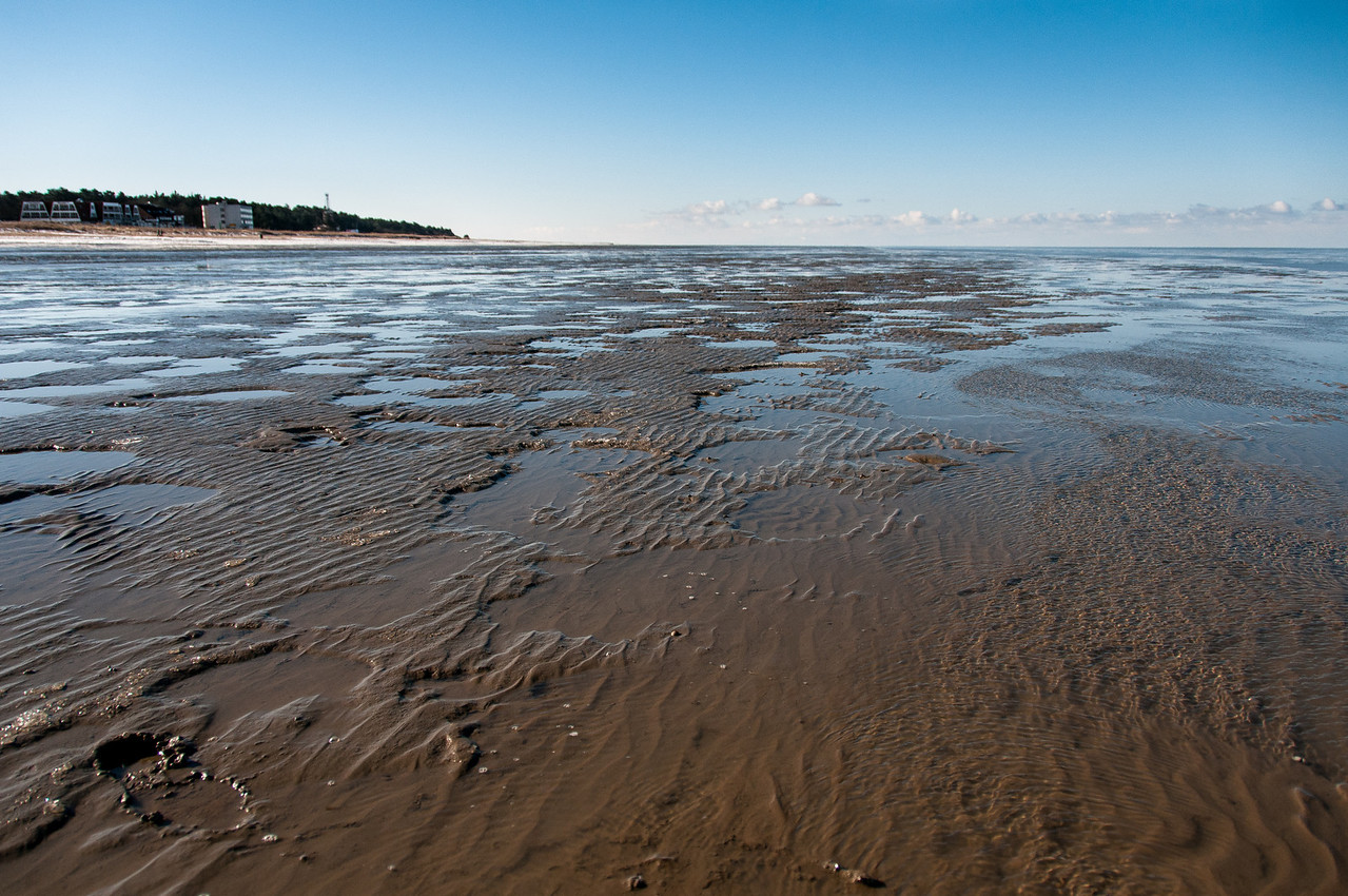 Low tide at Wadden Sea in Germany