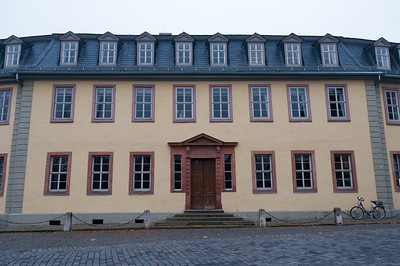 The Goethe House facade in Weimar, Germany