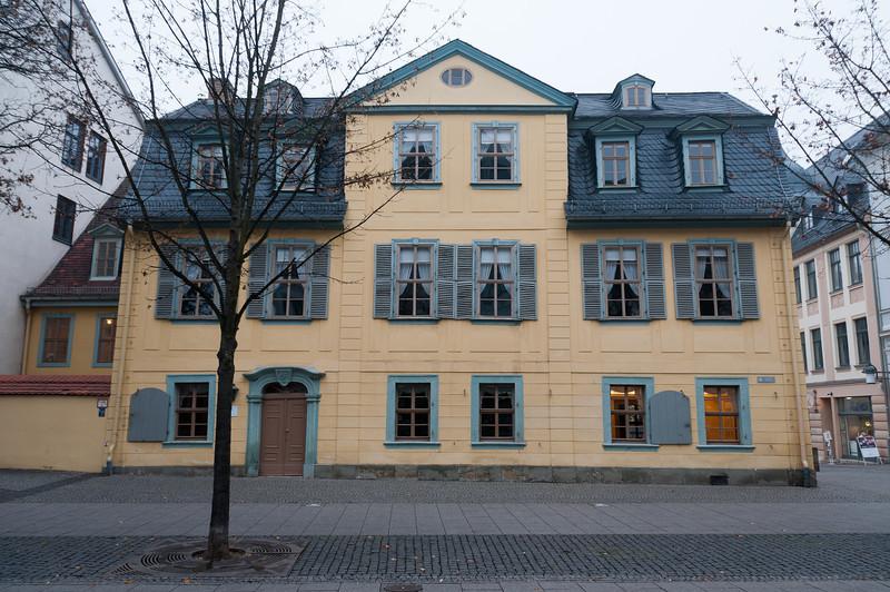 The Schiller-Museum facade in Weimar, Germany