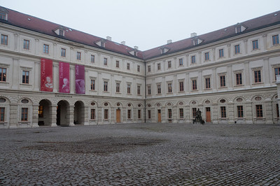 City castle's patio in Weimar, Germany