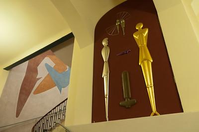 Art display inside the Bauhaus University - Weimar, Germany