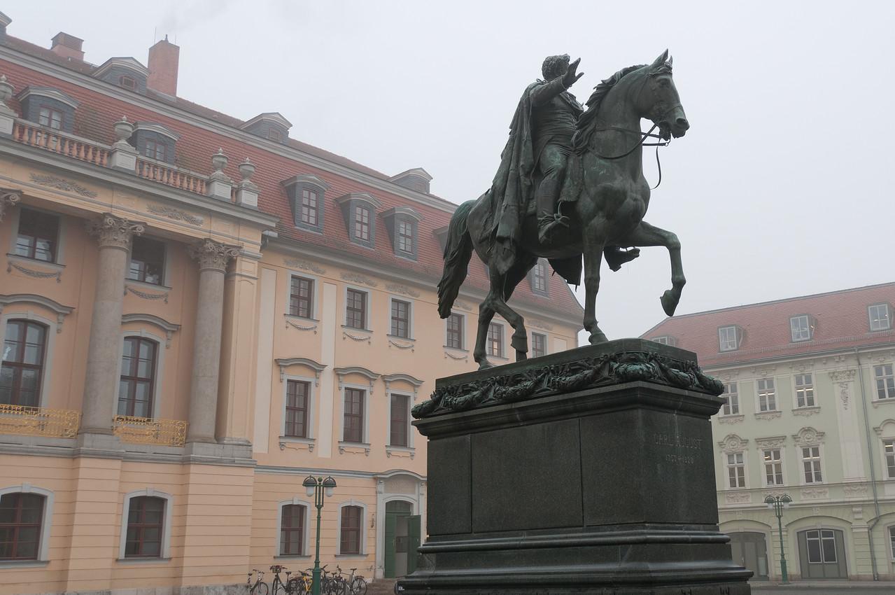 Equestrian Statue of Grand Duke Carl in Weimar, Germany