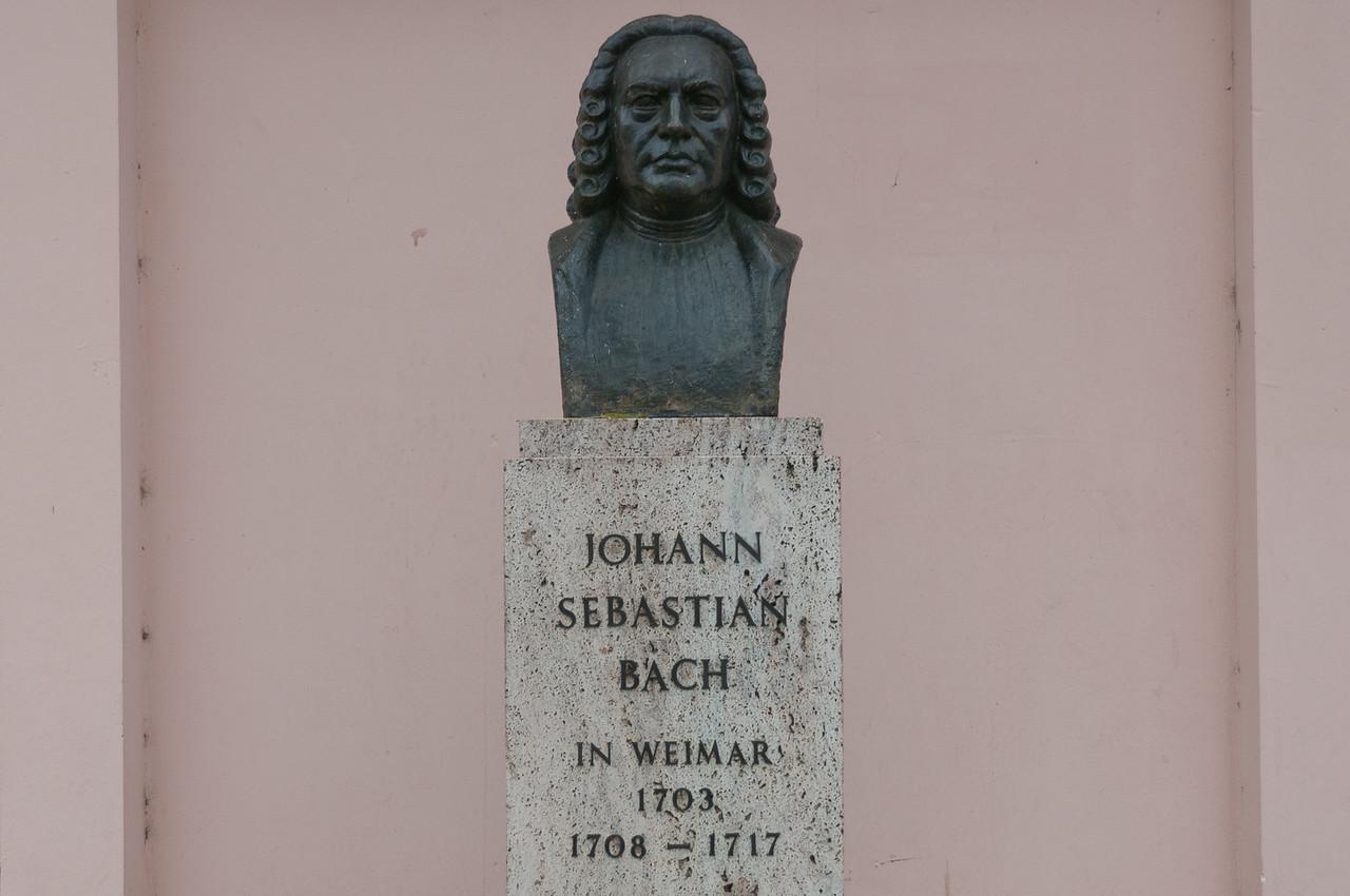 Johann Sebastian Bach memorial in Weimar, Germany