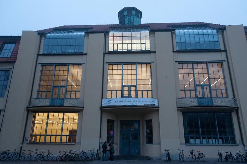 The Bauhaus University facade in Weimar, Germany