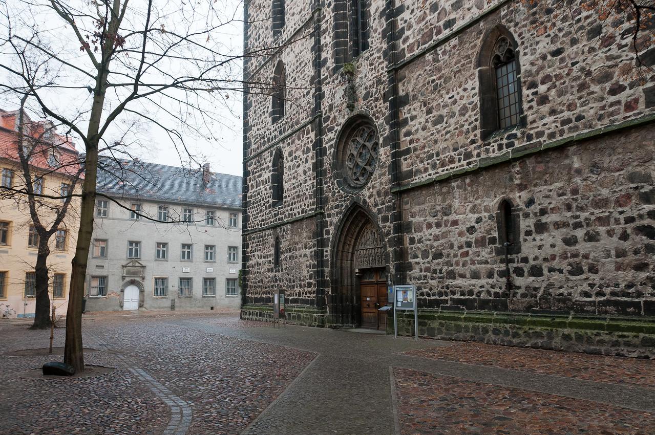 Street scene at Wittenberg, Germany