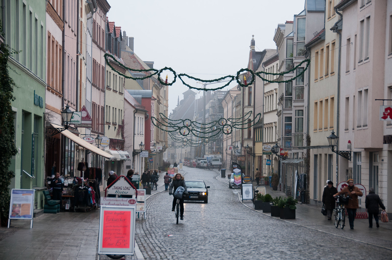 Street scene in Wittenberg, Germany