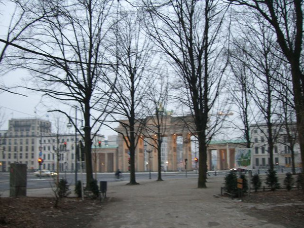 Exiting the park near Brandenburg Gate
