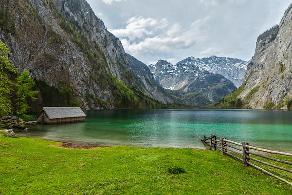 Obersee lake. Bavaria, Germany