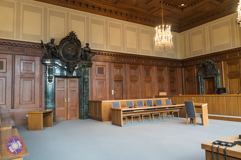 The Court Room Where the Nuremberg War-Crime Trial Took Place in 1946. The Area to the Right of the Door is Where the Nazi Monsters Sat During the Trial (©simon@myeclecticimages.com)