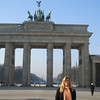 At Brandenburg Gate later in the day - still freezing!