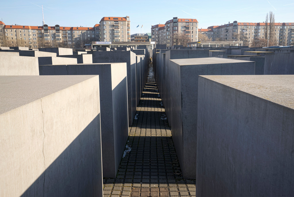 hallocaust memorial to the murdered jews of europe