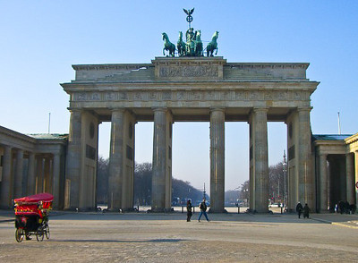 Brandenburg Gate nearly empty when I'm out for my morning run