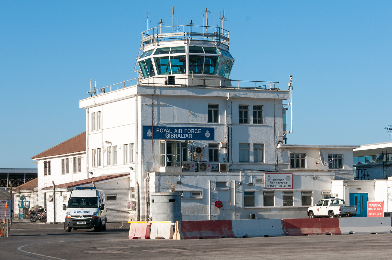 Air Force station at the Gibraltar airport