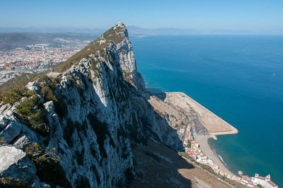 Breathtaking view of the cliffs in Gibraltar