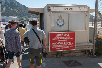 Police outpost at the airport in Gibraltar