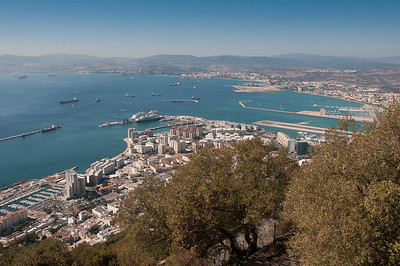 Overlooking view of the city skyline at day in Gibraltar