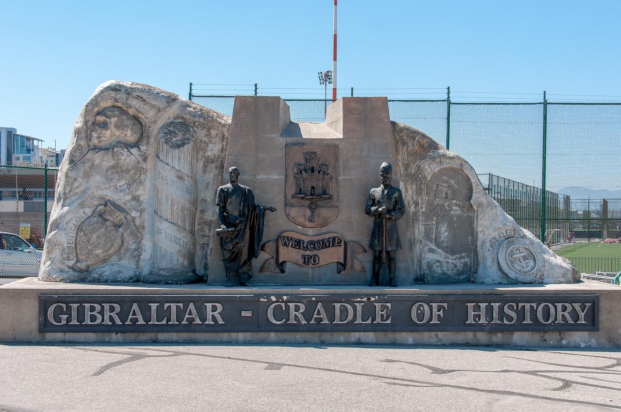 The Gibraltar Memorial in Winston Churchill Avenue, Gibraltar