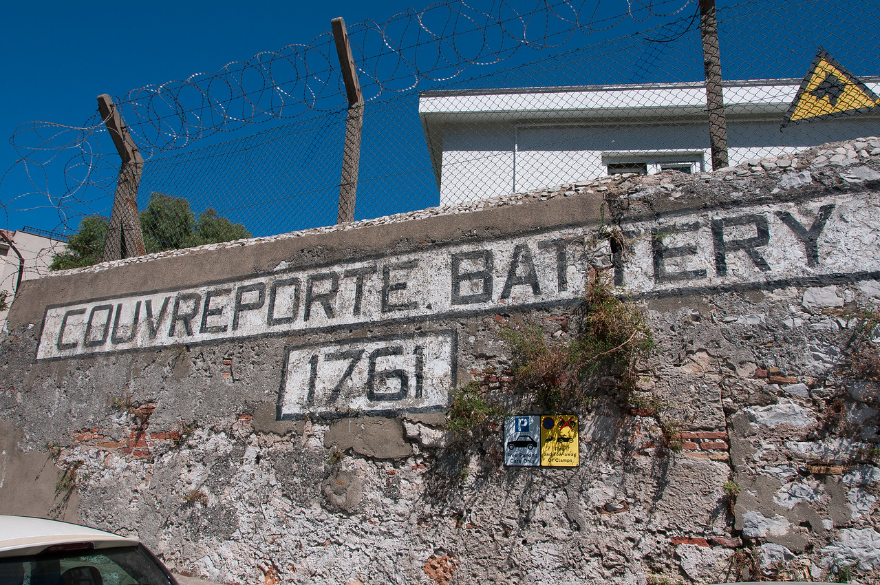 Couvreport Battery in the British Overseas Territory of Gibraltar
