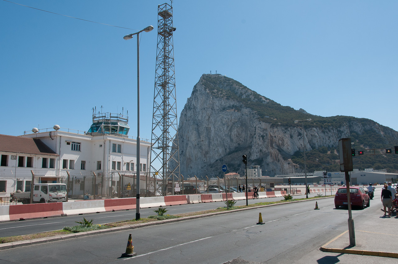 View of the mountain from the runway - Gibraltar