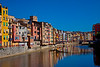 Onyar River in Girona, Spain With colorful houses