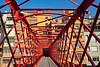 Eiffel Bridge spanning the Onyar River in Girona, Spain