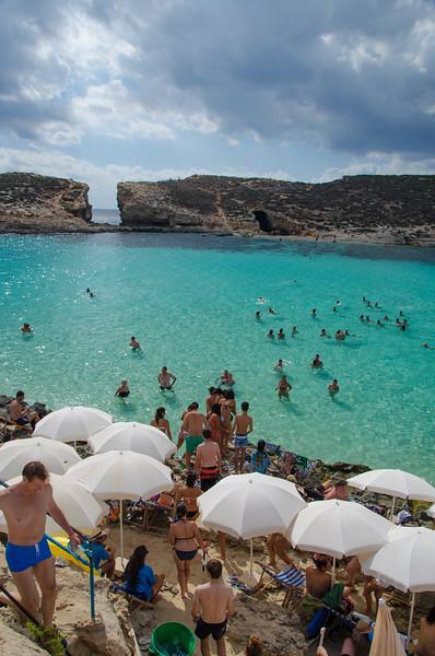 The turquoise waters of Comino Island, Malta