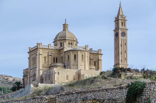 Grand Catholic churches on the Island of Gozo, Malta
