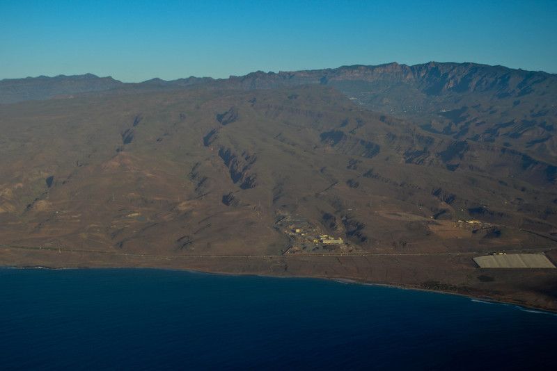 Flying into Gran Canaria