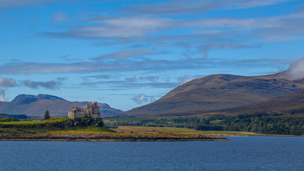 Duart Castle, from ferry to Isle of Mull