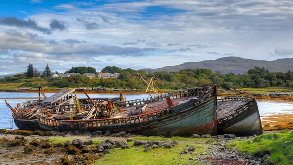 Wrecks at Salen, Isle of Mull