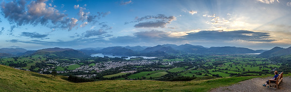 Sunset from Latrigg, Lakes District
