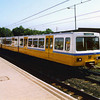 Tyne & Wear Metro Car 4045 in an experimental livery at Hebburn.