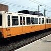Tyne & Wear Metro Car 4018 in the origonal Metro livery at Walkergate.