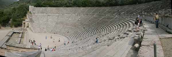 Theater at Epidavros Built in the 4th century BC