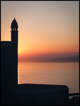 Sunset, Mykonos Town