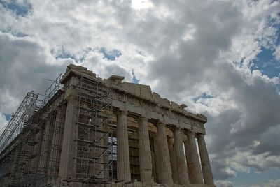 Restoration job at the Acropolis of Athens in Greece