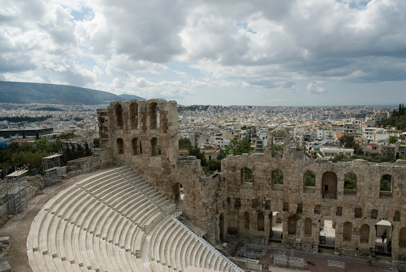 View from inside the Acropolis of Athens - Greece