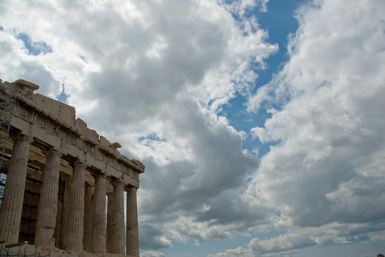The ruins of Acropolis of Athens in Greece
