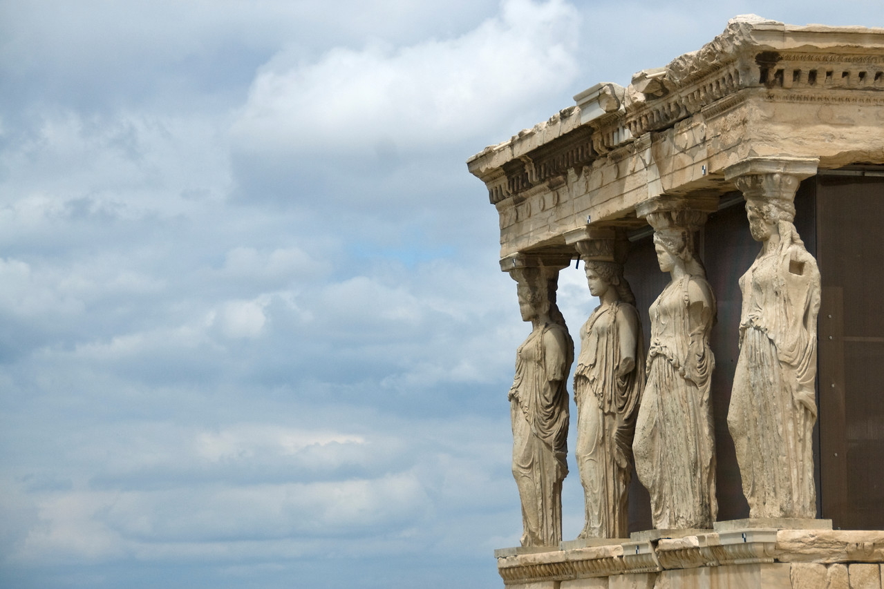 The Caryatid Porch of the Erechtheion on the Acropolis - Athens, Greece