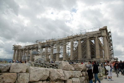Restoration work at the Acropolis of Athens in Greece