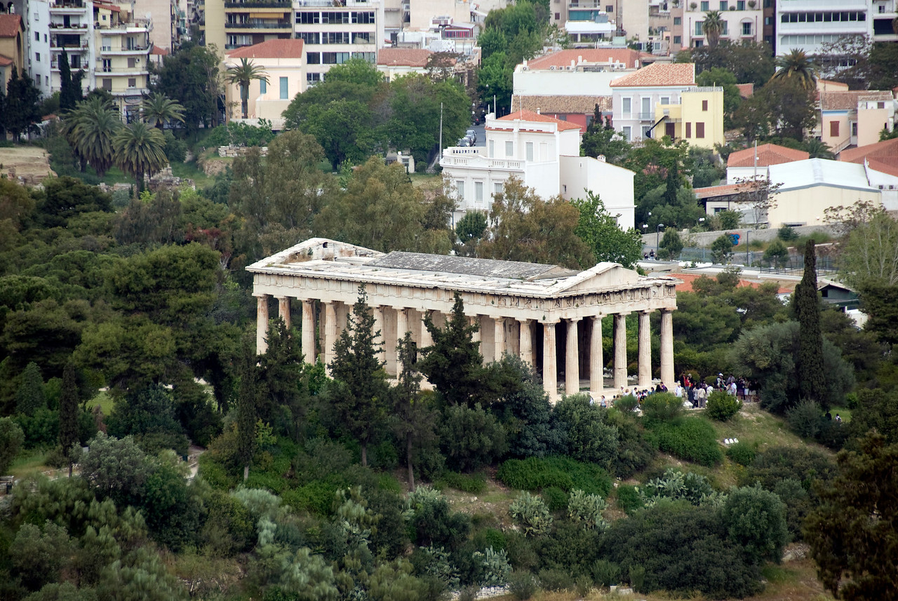 Overhead shot of Acropolis of Athens in Greece