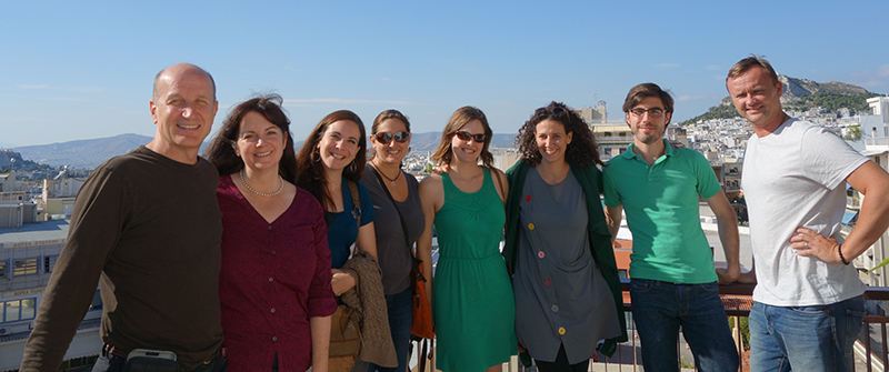 Our TBEX group with Tina from Alternative Athens Home Cooked Meals