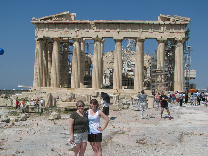 Joan and Beth at the Parthenon