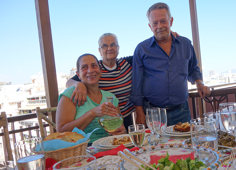 Our host and cook Eleni (left) with her friend and husband